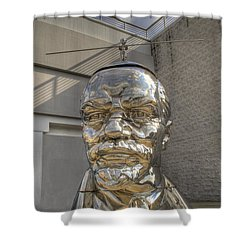 Lenin On La Brea Shower Curtain