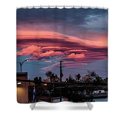 Shower Curtain featuring the photograph Lenticular Cloud Las Vegas by Michael Rogers