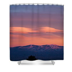 Lenticular Clouds Shower Curtain