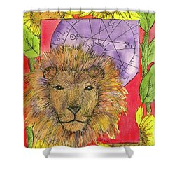 Shower Curtain featuring the painting Leo by Cathie Richardson