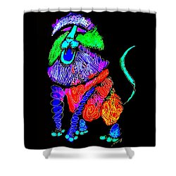 Leo, Rampant -- Negative Version Shower Curtain