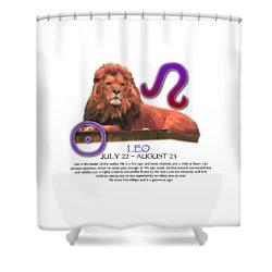 Leo Sun Sign Shower Curtain