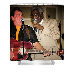 Leon Everette And Bill Pinkney Shower Curtain by Bob Pardue