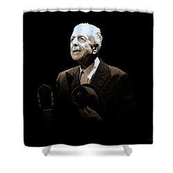 Portrait Of Leonard Cohen Shower Curtain
