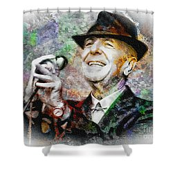 Leonard Cohen - Tribute Painting Shower Curtain