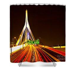 Leonard P. Zakim Bunker Hill Bridge  Shower Curtain
