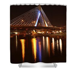 Leonard P. Zakim Bunker Hill Bridge Reflection 2 Shower Curtain