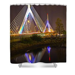 Leonard P. Zakim Bunker Hill Bridge Reflection Shower Curtain