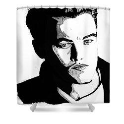Leonardo Dicaprio Portrait Shower Curtain by Alban Dizdari