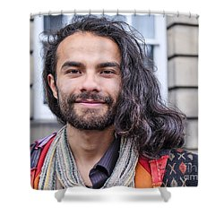 Leonardo - Edinburgh Shower Curtain by Amy Fearn