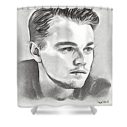 Leonardo Shower Curtain by Wayne Pascall