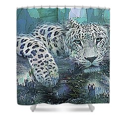 Leopard Abstract Shower Curtain