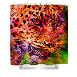 Leopard Shower Curtain by Elena Kosvincheva