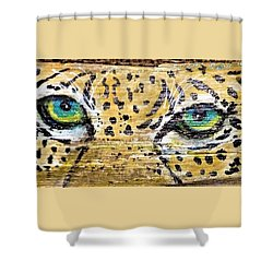Leopard Eyes Shower Curtain