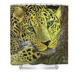 Leopard Gaze Shower Curtain