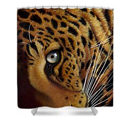 Leopard Shower Curtain by Jurek Zamoyski