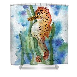 Leopard Seahorse Shower Curtain