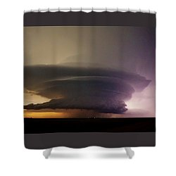 Shower Curtain featuring the photograph Leoti, Ks Supercell by Ed Sweeney