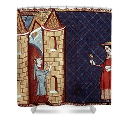 Leper House, C1220-1244 Shower Curtain by Granger