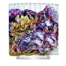 Lepidolite Shower Curtain by Rachel Hannah