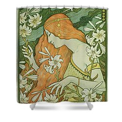 Lermitage Shower Curtain by Paul Berthon
