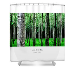 Shower Curtain featuring the digital art Les Arbres by Julian Perry
