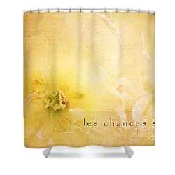 Les Chances Sont  Shower Curtain