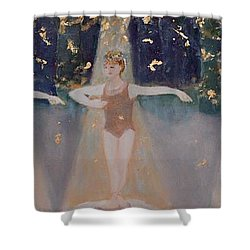 Les Cinq Positions Shower Curtain by Julie Todd-Cundiff