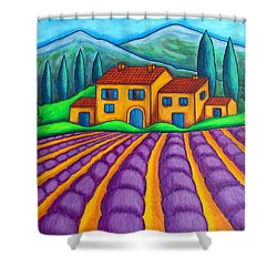 Les Couleurs De Provence Shower Curtain by Lisa  Lorenz