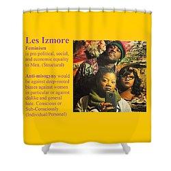 Les Izmore Feminism Shower Curtain