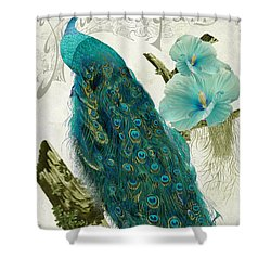 Les Paons Shower Curtain