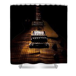 Burst Top Guitar Spotlight Series Shower Curtain