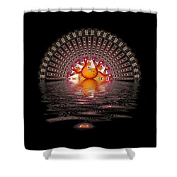 Les Paul Sunrise Shirt Shower Curtain