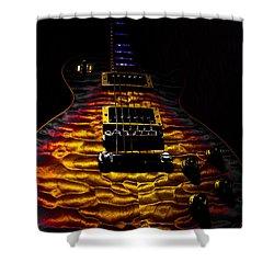 Tri-burst Quilt Top Guitar Spotlight Series Shower Curtain