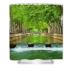 Les Quais De La Fontaine Nimes Shower Curtain