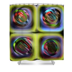 Les Tensions Internes Shower Curtain