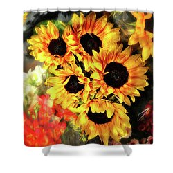 Les Tournesols Shower Curtain by Jack Torcello
