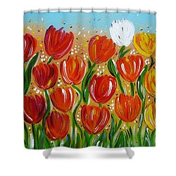 Les Tulipes - The Tulips Shower Curtain by Gioia Albano