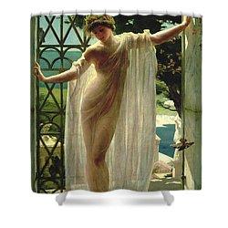 Lesbia Shower Curtain by John Reinhard Weguelin