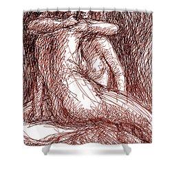 Lesbian Sketches 1b Shower Curtain