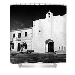 Fortified Church, Formentera Shower Curtain