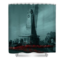 Lest We Forget. Shower Curtain by Keith Elliott