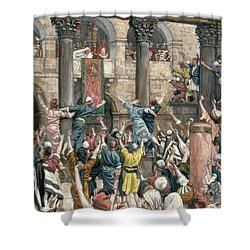 Let Him Be Crucified Shower Curtain by Tissot