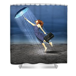 Shower Curtain featuring the mixed media Let It Rain by Marvin Blaine