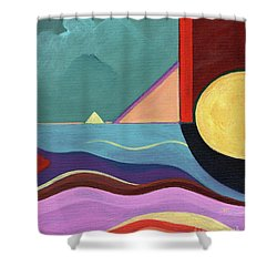 Let It Shine Shower Curtain by Helena Tiainen