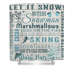 Shower Curtain featuring the digital art Let It Snow by Jean Plout