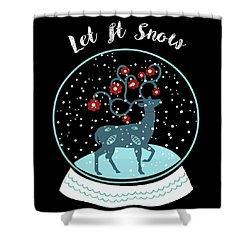 Let It Snow Shower Curtain by Marilu Windvand