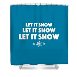 Shower Curtain featuring the digital art Let It Snow With Snowflakes by Heidi Hermes