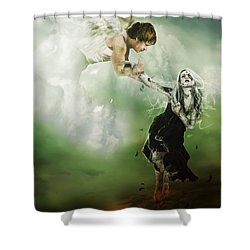 Let Me Go Shower Curtain by Mary Hood
