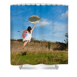 Let The Breeze Guide You Shower Curtain